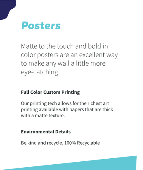 Posters Matte To Touch And Bold In Color Posters Are An Excellent Way To Make Any Wall A Little More Eye Catching... White T-Shirt Back