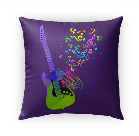 Pillow Electric Guitar Music Notes Standard T-Shirt Front