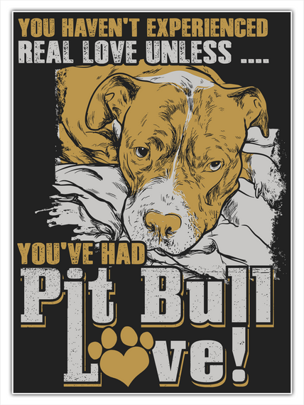 You Haven't Experienced Real Love Unless .... You've Had Pit Bull Love Standard T-Shirt Front