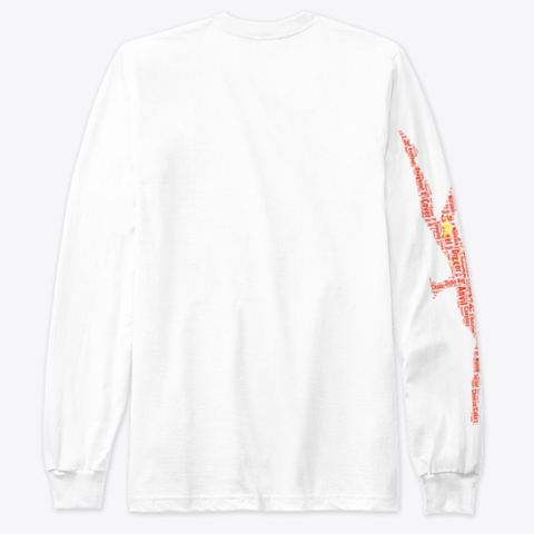 Volleybragswag Dig Words Chn Libero  White T-Shirt Back