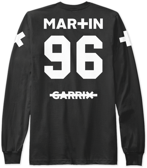 59e9e74cc09 Official Martin Garrix Shirts. 2 Sleeve Designs Please See Rochelle For Art  Work Black Lange Mouwen T-Shirt Back
