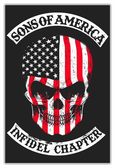 Sons Of America   Infidel Chapter White Camiseta Front