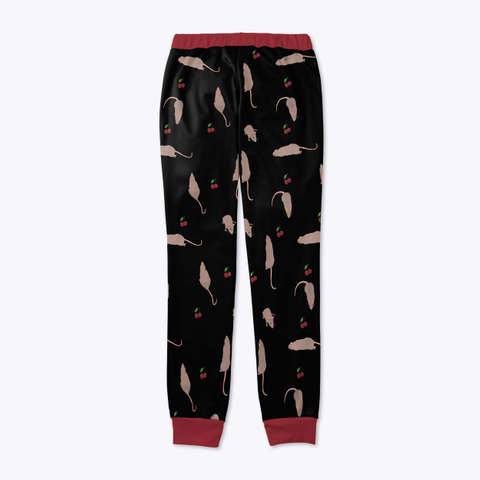 Cherry Rat Joggers In Black Standard T-Shirt Back
