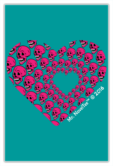 Skull Of Hearts Standard T-Shirt Front