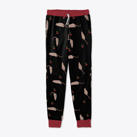 Cherry Rat Joggers In Black Standard T-Shirt Front