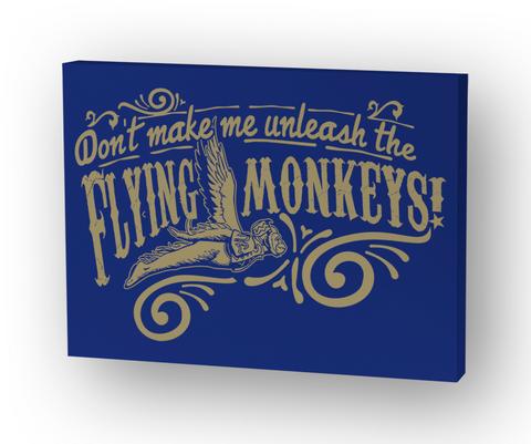 Flying Monkeys Gallery Wrap 8x10 White T-Shirt Front