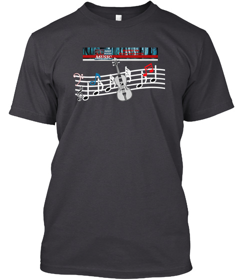 Deep Woods Music T Shirt Hoodie And Mug Charcoal Black T-Shirt Front