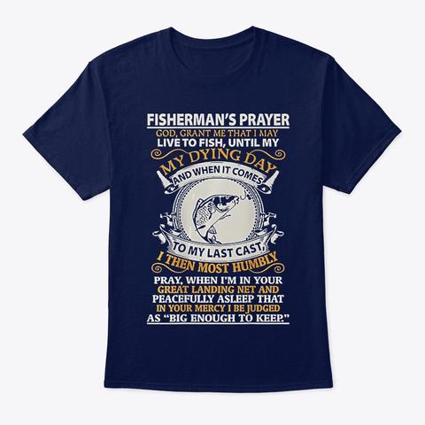 Fish Fisherman's Prayer Navy T-Shirt Front
