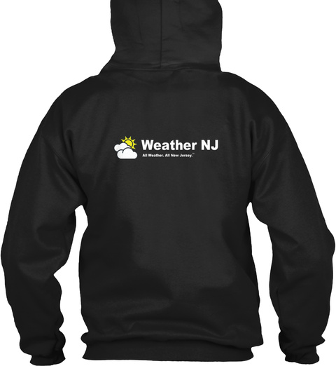 Weather Nj All Weather. All New Jersey. Black Sweatshirt Back
