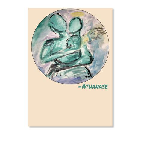 Athanase Creme Sticker Front