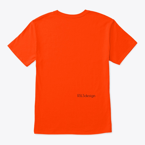 Autism Awareness Love And Peace.  Orange T-Shirt Back