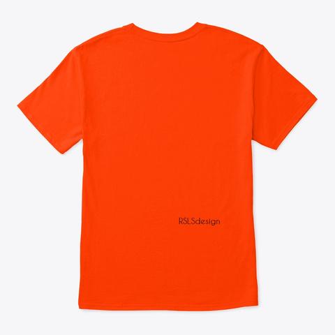 Autism Awareness Love And Peace.  Orange T-Shirt Back