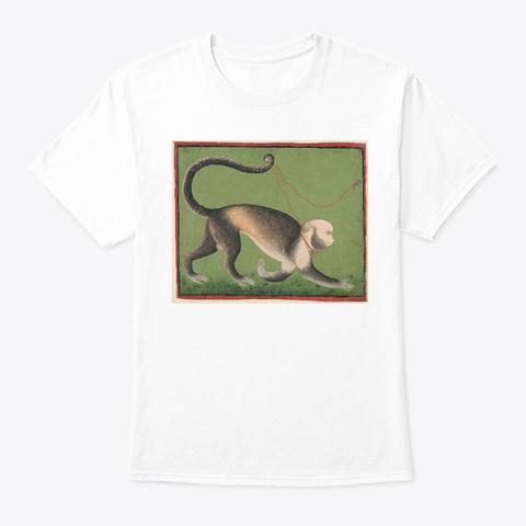 A Monumental Portrait Of A Monkey White T-Shirt Front