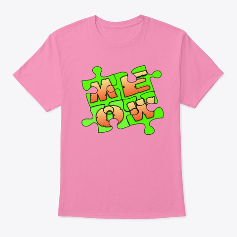 Meow Design Pink T-Shirt Front
