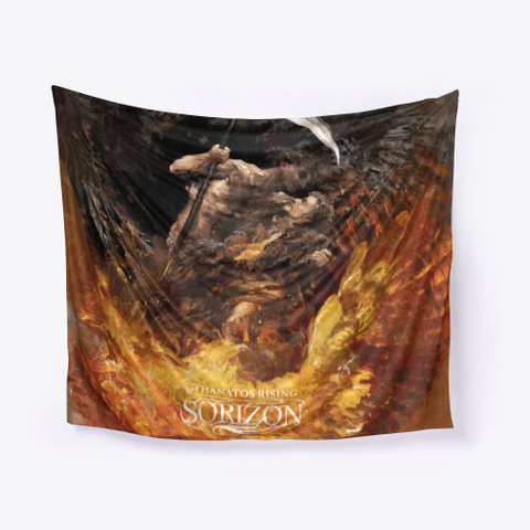 Thanatos Rising Wall Tapestry Black T-Shirt Front