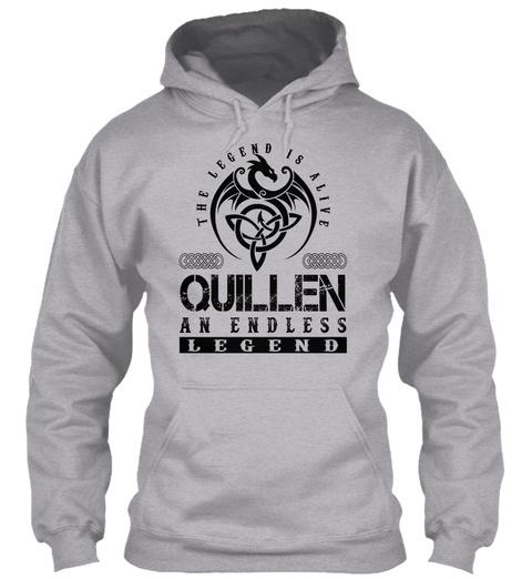 Quillen   Legends Alive Sport Grey T-Shirt Front