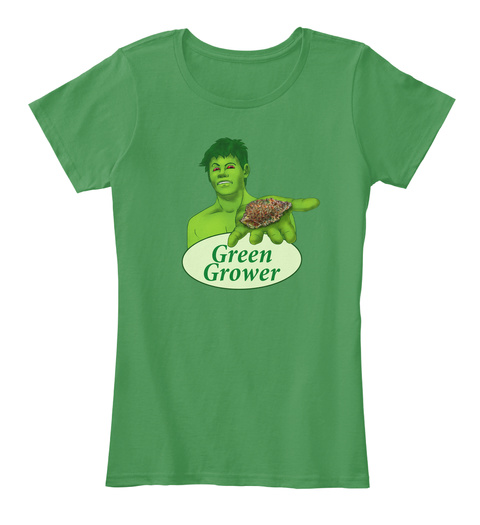 Green Grower Kelly Green  T-Shirt Front