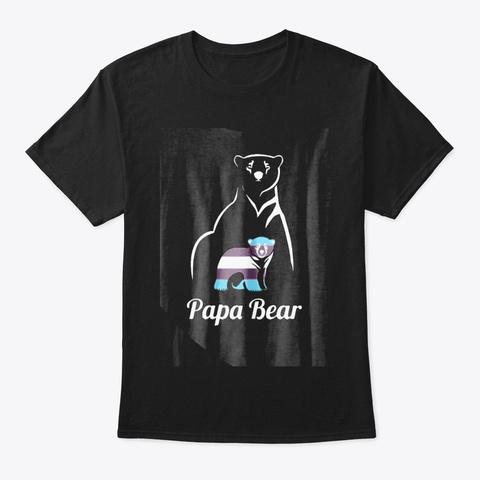 Lgbt Papa Bear Transgender Equal Rights Black T-Shirt Front