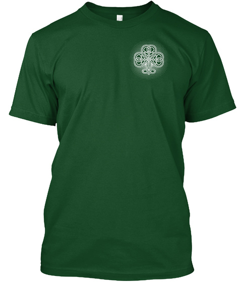 I'm Irish   Awesome Deep Forest T-Shirt Front