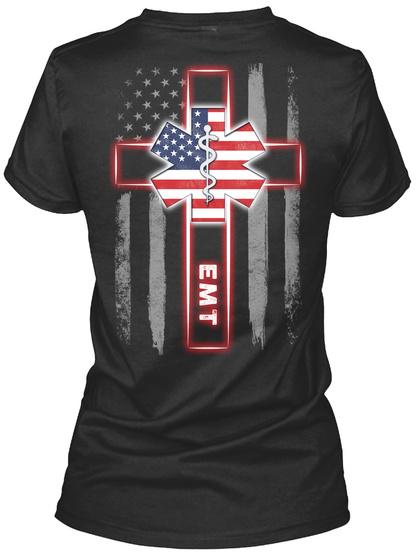 Emt Black T-Shirt Back