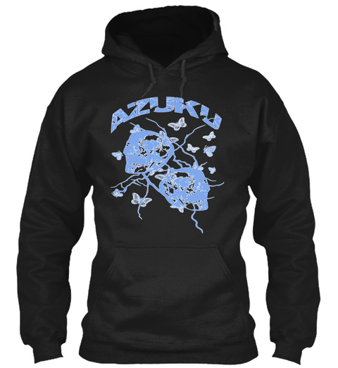 Blue Hue Disconnect Hoodie Black T-Shirt Front