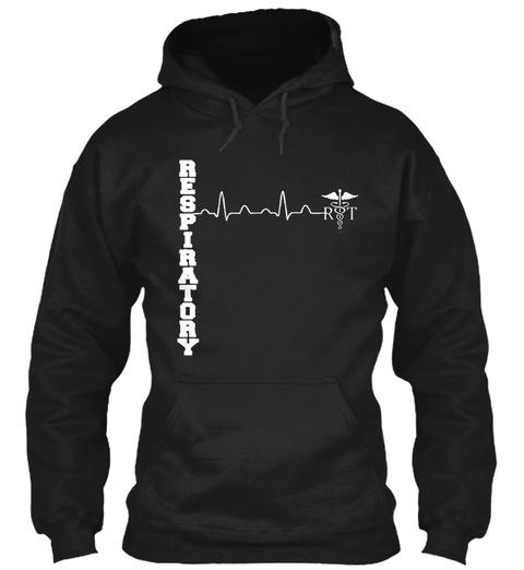 Respiratory Rt  Black T-Shirt Front