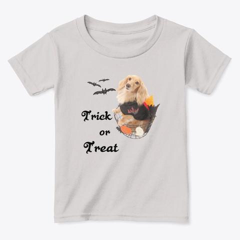 Dog In Halloween Basket Sport Grey  T-Shirt Front
