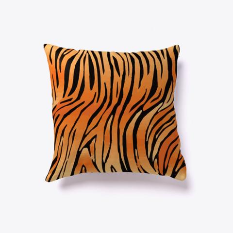 Nice Exotic, Animal, Tiger Skin Pattern Standard T-Shirt Back