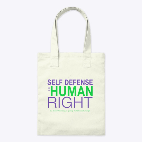 Self Defense Is A Human Right Natural T-Shirt Front