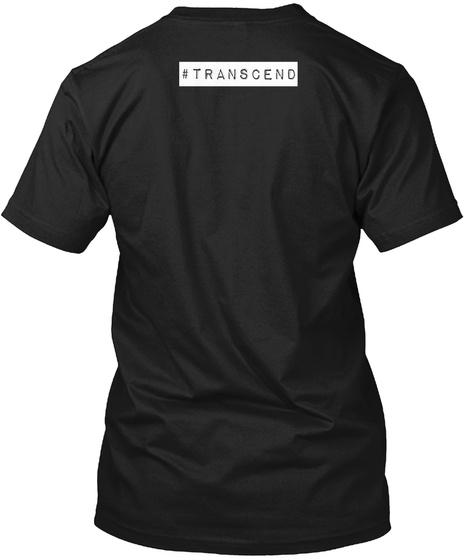 #Transcend Black T-Shirt Back