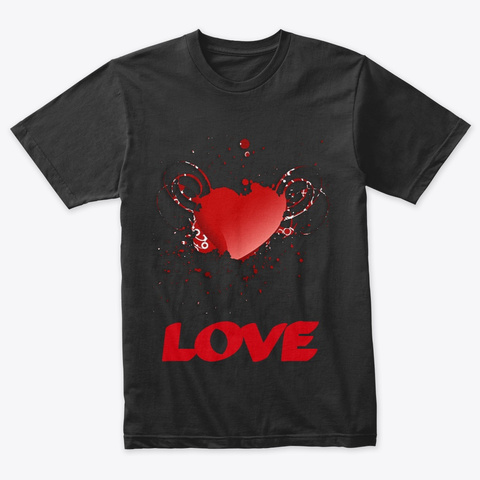 Wonderful   Love Design Vintage Black Kaos Front