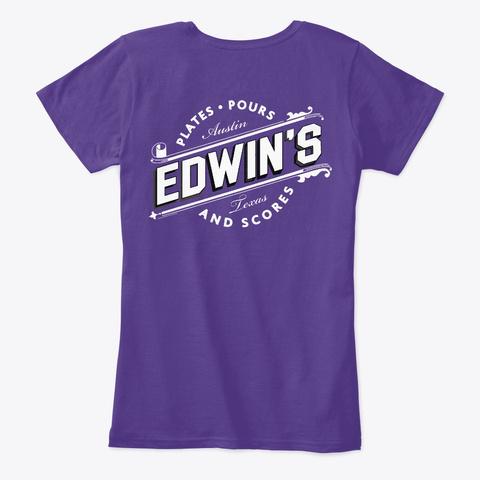 Edwin's Og Tee Purple T-Shirt Back