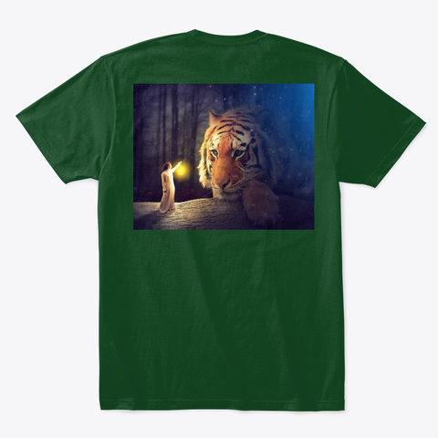 Tiger  Forest Green  T-Shirt Back