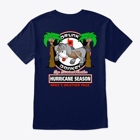 Drunk Donkey Sleeping Navy T-Shirt Back