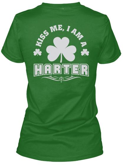 Kiss Me I Am Harter Thing T Shirts Irish Green T-Shirt Back