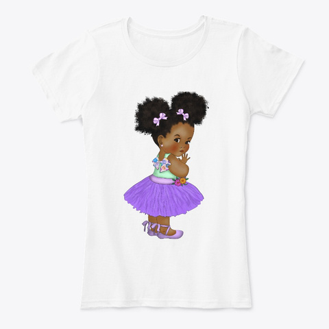Black Kid Chubby Cheeks Back To School White T-Shirt Front
