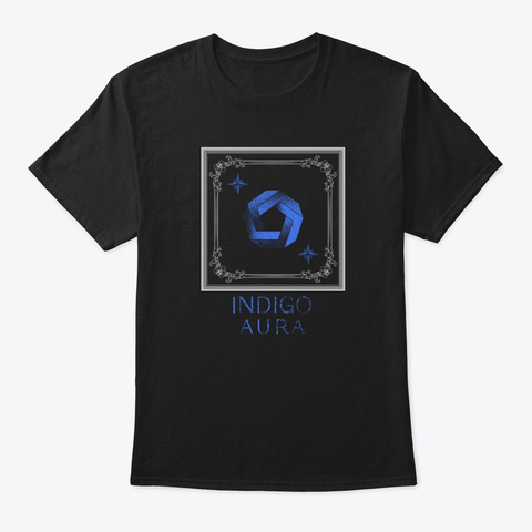 Indigo Aura  Black T-Shirt Front