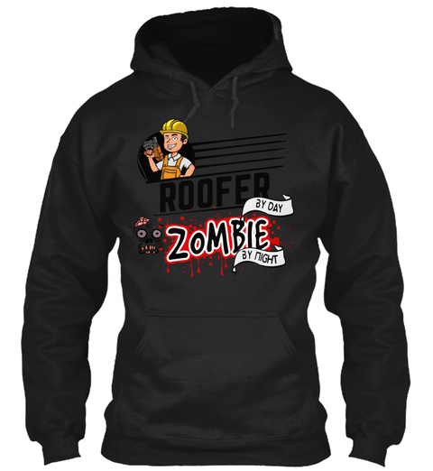 Roofer Black T-Shirt Front