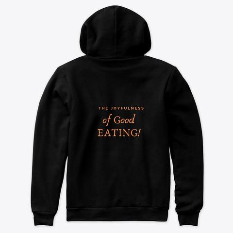 Black Hoodie Sweatshirt Premium Black Kaos Back