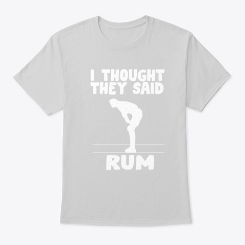 Rum Fitness Alcohol Beer Party Sports Gi Light Steel T-Shirt Front