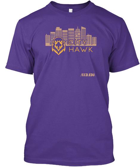 /Ccd.Edu Purple T-Shirt Front