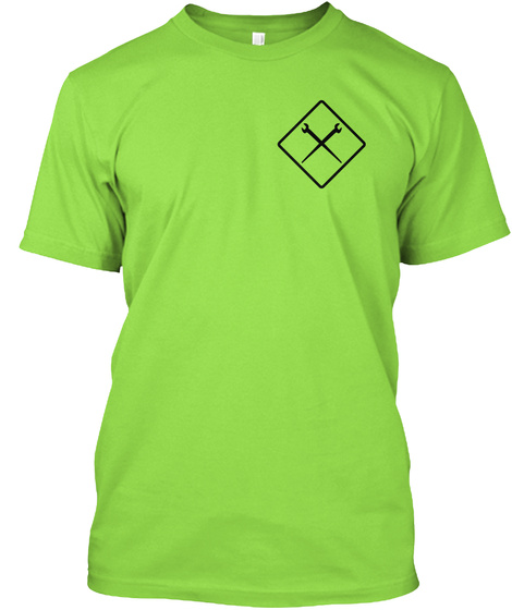 Rigger Safety Lime T-Shirt Front