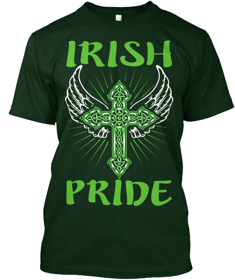 Irish Pride Forest Green T-Shirt Front