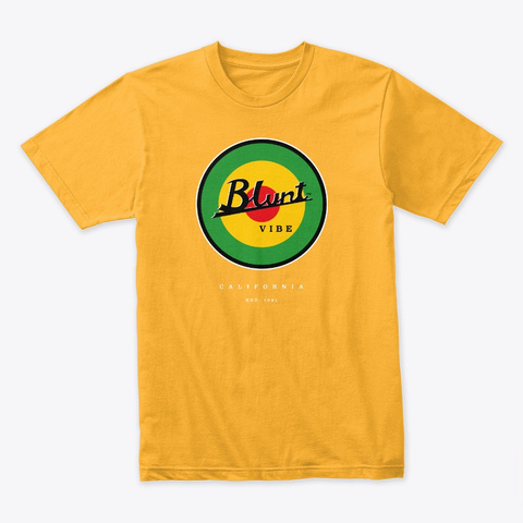 Blunt Vibe California Gold T-Shirt Front