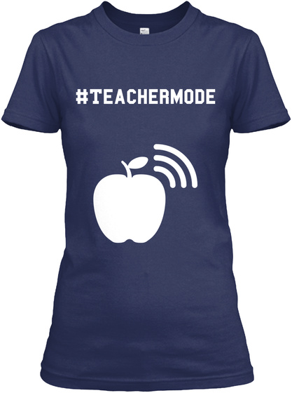 #Teachermode Navy Women's T-Shirt Front