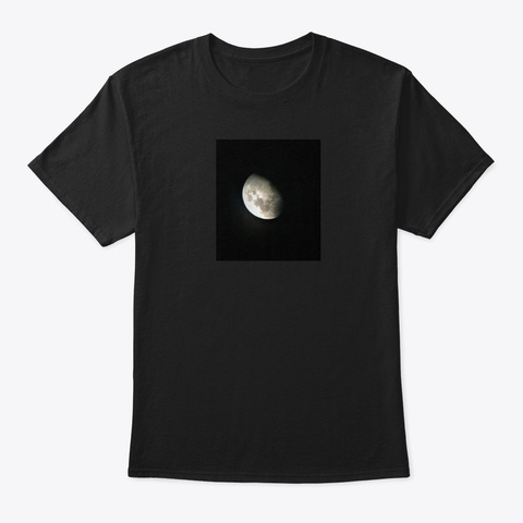 Moons Out Black T-Shirt Front