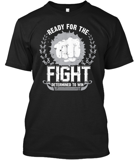 Ready For Fight Against Brain Cancer Black T-Shirt Front
