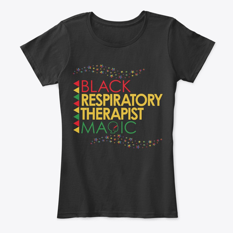 Black Respiratory Therapist Magic Black T-Shirt Front