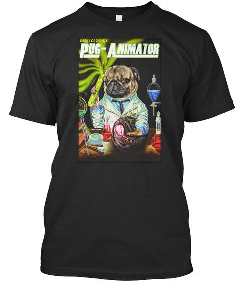 Pug Animator Black T-Shirt Front