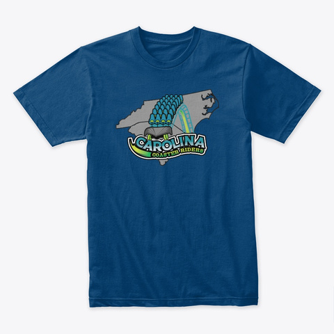 Carolina Coaster Riders Drop With States Cool Blue T-Shirt Front